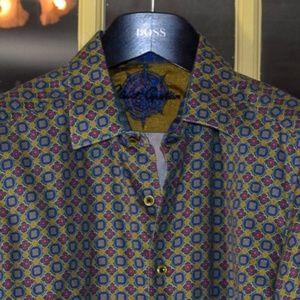 Rare Robert Graham Leprechaun Skeleton shirt